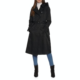 Lauren Ralph Lauren Maxi Trench Womens Bunda - Black