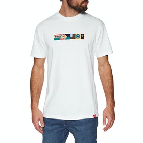 Chocolate Giant Flag Short Sleeve T-Shirt - White