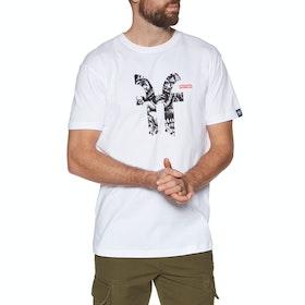 T-Shirt a Manica Corta Faction M Faction X Dragon Icon - White