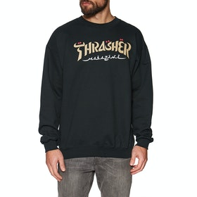 Sweat Thrasher Calligraphy - Black