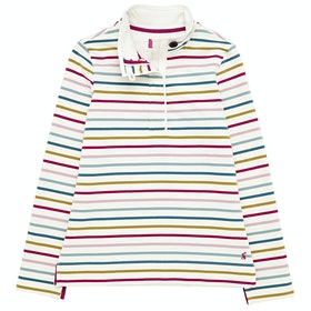 Joules Saunton Funnel Neck Ladies Sweater - Narrow Multi Stripe
