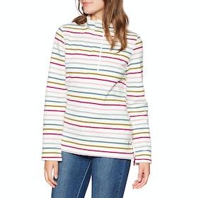 Joules Saunton Funnel Neck Damen Pullover - Narrow Multi Stripe