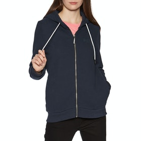 Sweat à Capuche avec Fermeture Éclair Femme Superdry Orange Label Elite - French Navy
