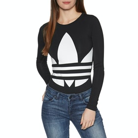 Adidas Originals Large Logo Body Long Sleeve T-Shirt - Black