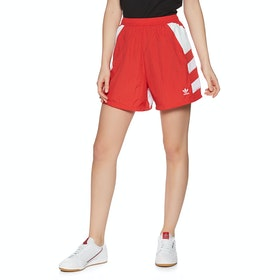 Adidas Originals Large Logo Womens Shorts - Red