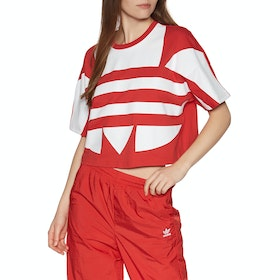 Adidas Originals Large Logo Womens Short Sleeve T-Shirt - Red