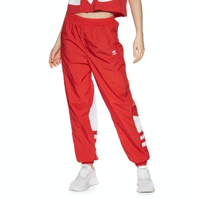 Adidas Originals Large Logo Womens Jogging Pants - Red