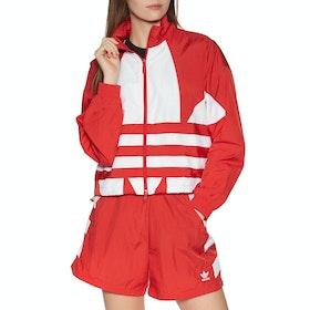 Adidas Originals Large Logo Womens Track Jacket - Red