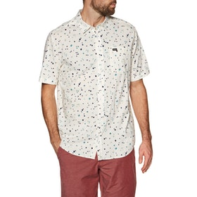 RVCA Calico Short Sleeve Shirt - Antique White