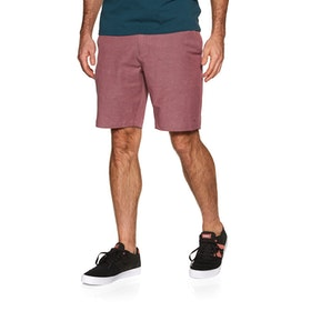 RVCA Back In 19in Hybrid Boardshorts - Oxblood Red