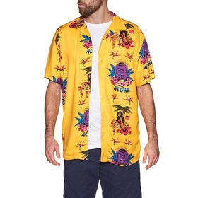 RVCA Dmote Tiki Short Sleeve Shirt - Golden Yellow