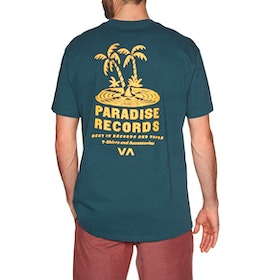 RVCA Paradise Records Short Sleeve T-Shirt - Deep Sea