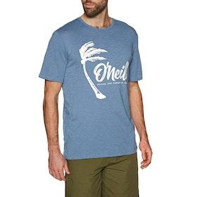 O'Neill Palm Graphic Short Sleeve T-Shirt - Walton Blue