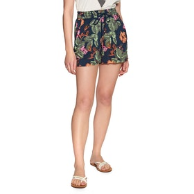 O'Neill Montara Drapey Womens Shorts - Blue Aop Pink Purple