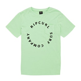 Rip Curl Woop Loop Short Sleeve T-Shirt - Light Green