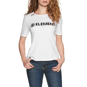 Element Logo CR Womens Short Sleeve T-Shirt - White