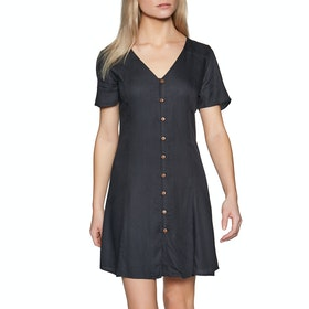 Element Sue Twill Womens Dress - Off Black