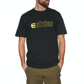 T-Shirt à Manche Courte Etnies Ecorp - Black/yellow