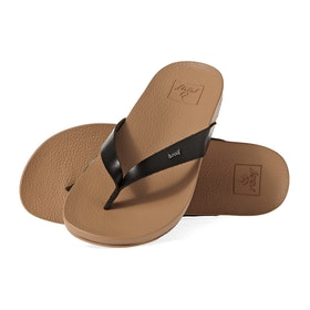 Reef Cushion Bounce Court Womens Sandals - Black Natural