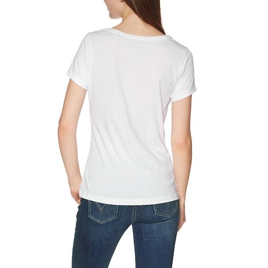 Jack Wolfskin Flower Letter Short Sleeve T-Shirt