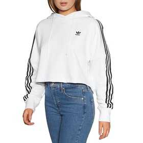Adidas Originals Cropped Womens Pullover Hoody - White
