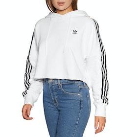 Pullover à Capuche Femme Adidas Originals Cropped - White