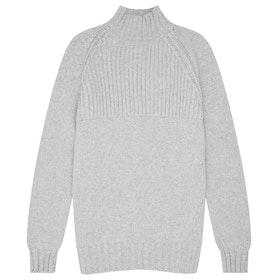 Maglione Shackleton Nimrod Cashmere Funnel Neck - Light Grey