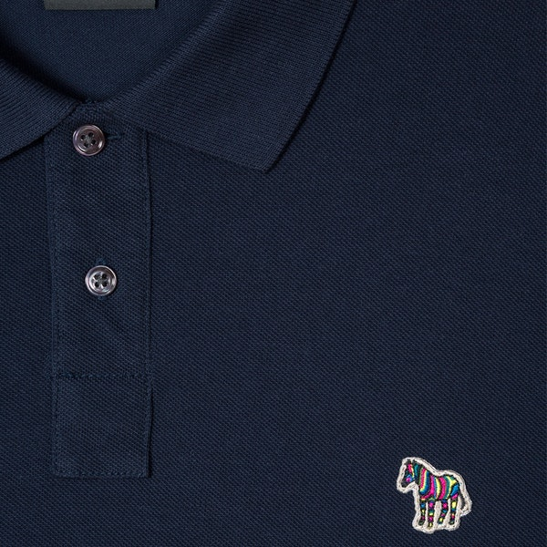 Paul Smith Zebra Logo Long Sleeve Poloshirt