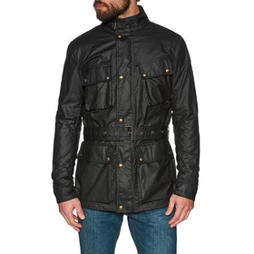 Belstaff Trialmaster Wax Belted Jacket - Black