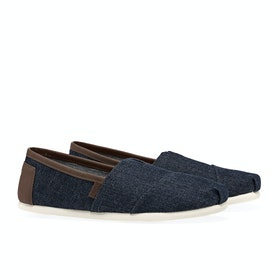 Toms Herritage Denim Slip On Trainers - Dark Blue