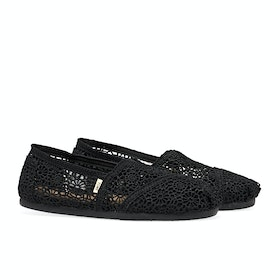 Toms Crochet Alpargata Women's Slip On Trainers - Black