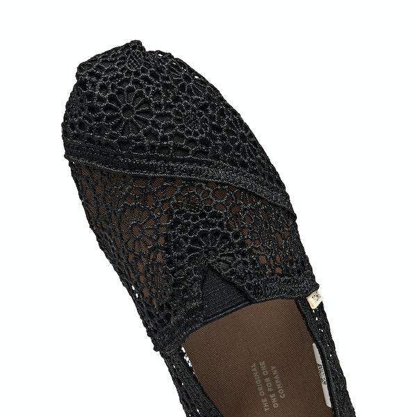 Toms Crochet Alpargata Womens スリップオンシューズ