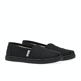 Toms Alpargata Canvas 2 Kid's Slip On Trainers - Black