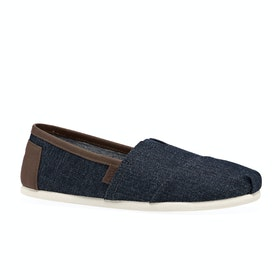 Toms Herritage Denim Slip On Shoes - Dark Blue