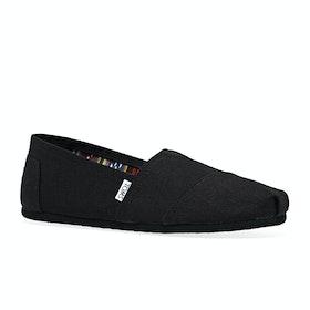 Scarpe Slip On Toms Mens Classic Alpargata - Black