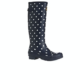 Joules Printed Womens Wellies - Navy Spot