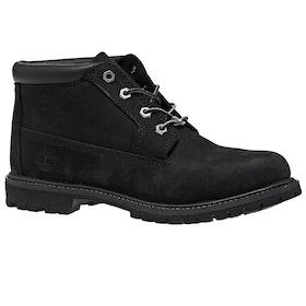 Timberland Nellie Chukka Double Ladies Boots - Black Nubuck