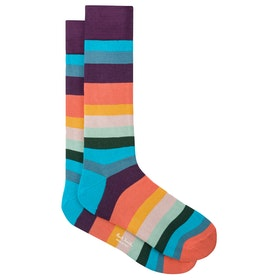 Paul Smith Artist Stripe Socks - Multicoloured