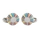 Paul Smith Multi-Coloured Stripe Edge Circular Cufflinks