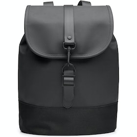Rains Drawstring Rucksack - Black