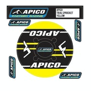 Apico Trials Rear Sprocket Sticker 46T Decal Sheet