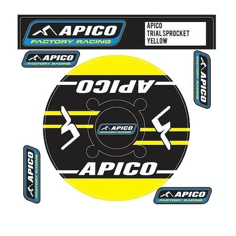 Decal Sheet Apico Trials Rear Sprocket Sticker 46T