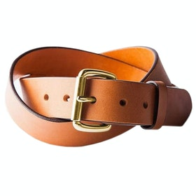 Tanner Standard Leather Belt - Saddle Tan / Brass