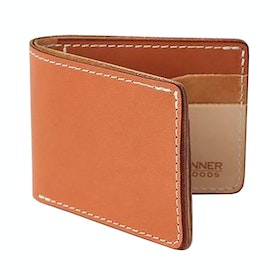 Tanner Utility Bifold Mens ウォレット - Sahara Golden Harness Leather