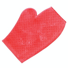 Lincoln Rubber Grooming Mitt - Red