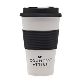Country Attire Bamboo Travel Tasse - Cream Black