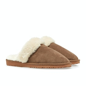 Country Attire Faux Fur Damen Pantoffeln - Tan