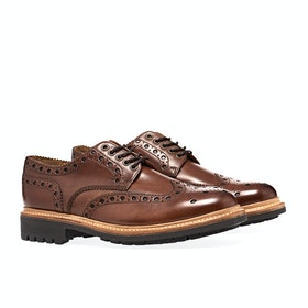 Dress Shoes Męskie Grenson Archie - Tan Commando Sole