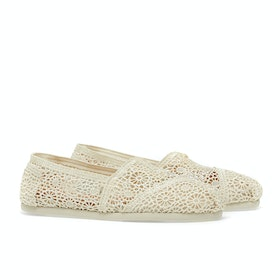 Toms Crochet Alpargata Women's Slip On Trainers - Natural