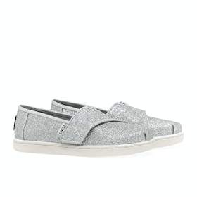 Toms Glimmer Mini Girl's Slip On Trainers - Silver